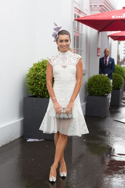 Name: Rozalia Russian Outfit: Thurley dress and Balenciaga heels Race day: Oaks Day 2015 Location: Flemington, Melbourne