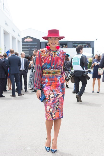 Name: Ashley Hart Outfit: Stella Jean top and skirt with Christian Louboutin clutch and shoes. Race day: Melbourne Cup 2015 Location: Flemington, Melbourne