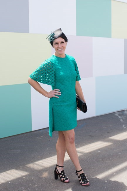 Name: Kate Keane Outfit: millinery Karen Henrisken, Scanlan Theodore, dress, Proenza heels Race day: Melbourne Cup 2015 Location: Flemington, Melbourne