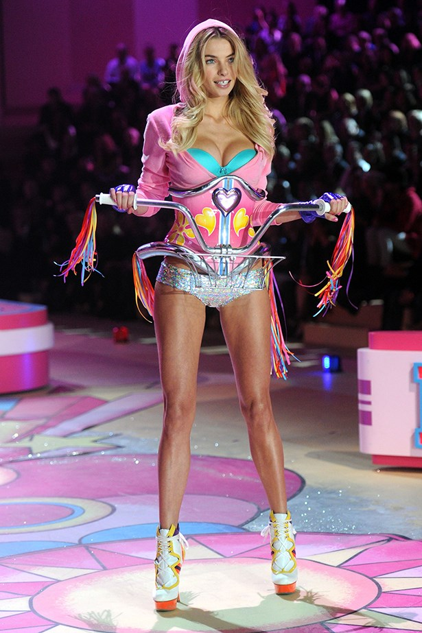 <strong>Jessica Hart</strong> has walked the show twice.