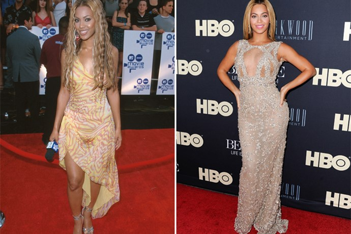What did we tell you about asymmetrical hemlines? Beyonce knew them well.
