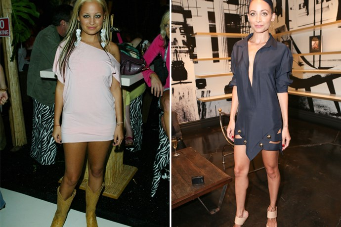 Remember early 2000s Nicole Richie who was always on the arm of Paris Hilton and flashing her boobs on a runway? She's gone. The Nicole left is a chic, impeccably styled business woman with a good eye for vintage.