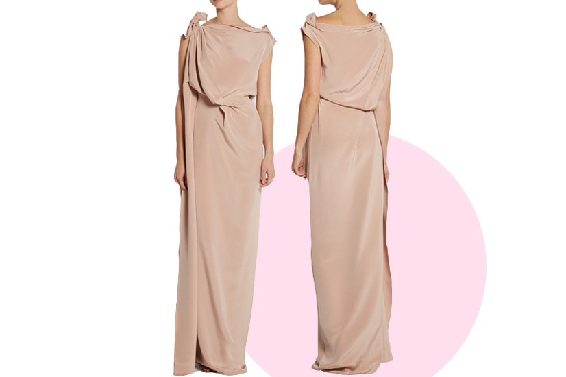 "Black Tie is a little easier. You don't need to go full on 'dinner at the White House' fancy, so this grecian-inspired <a href=""http://www.net-a-porter.com/au/en/product/565625/roland_mouret/silvabella-draped-silk-satin-gown"">Roland Mouret gown</a> is a good halfway point. It's no-frills, so you can wear this one again to a charity gala, or a dressy event."