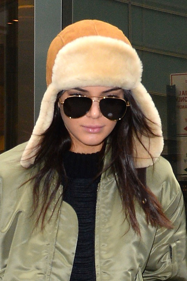 We kind of feel that only Kendall Jenner could make this hat look SO cute. Image: Getty