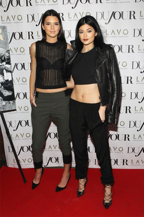 Kylie poses with her equally as fabulous sister Kendall.