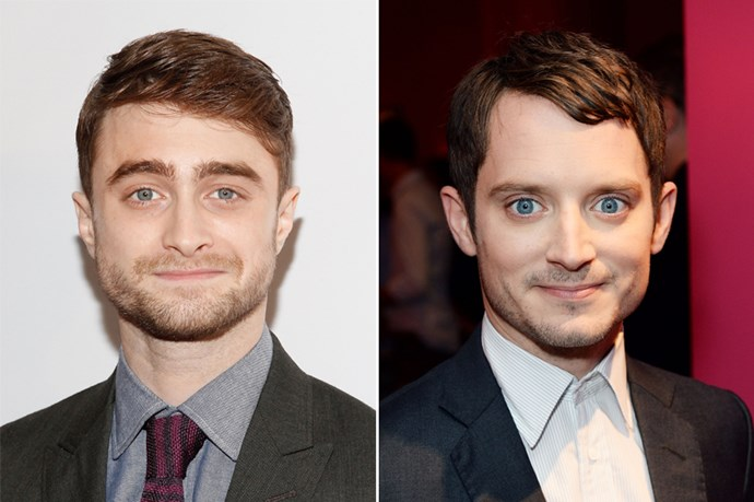 "PS. Daniel Radcliffe understand why you would think that he's Elijah Wood. ""It's 'cause the idea of us is the same,"" he explained, ""We're both short guys with big blue eyes and brown hair. And we did fantasy movies that came out at the same time."""