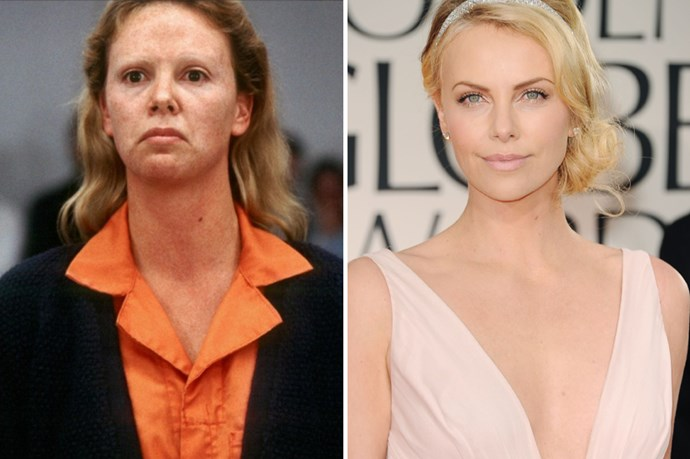 Likewise Charlize got the gold for her portrayal of Aileen Wuornos in <em>Monster</em>.