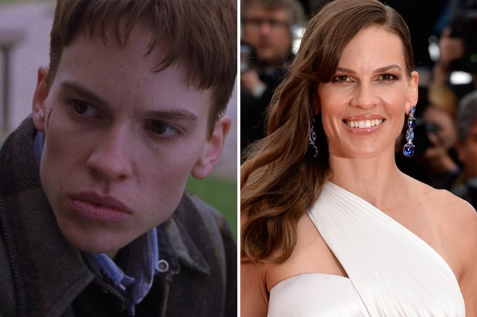 Hilary Swank got her golden statue for playing a transgender boy in <em>Boys Don't Cry</em>.
