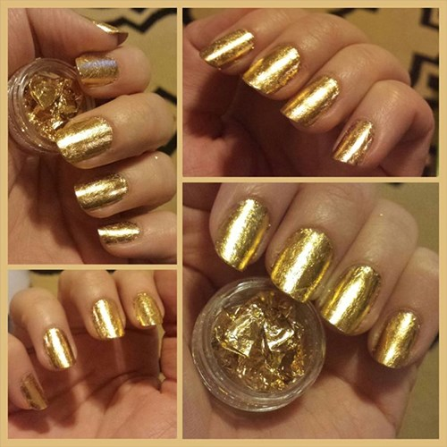 The gold leaf nail trend might not be for everyone considering the price tag, but what is more luxe than wearing actual gold on your nails?