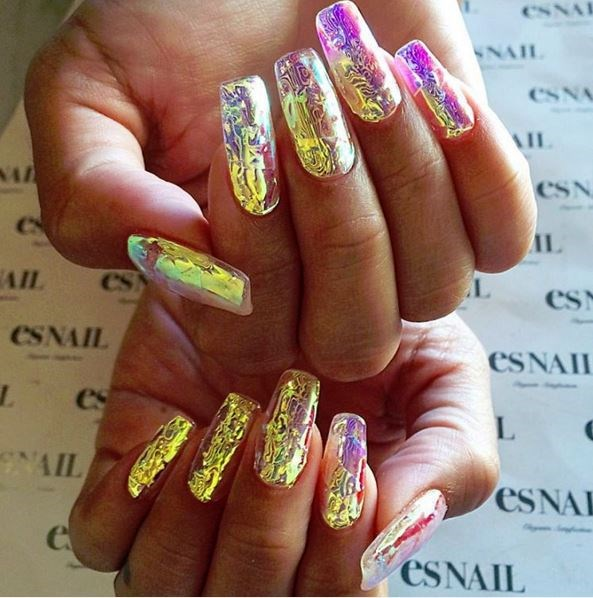 Holographic nails are the future.