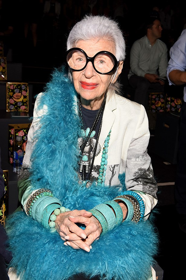 Iris Apfrel, a true original, who's always lived - and dressed - on her own, fabulous, terms.