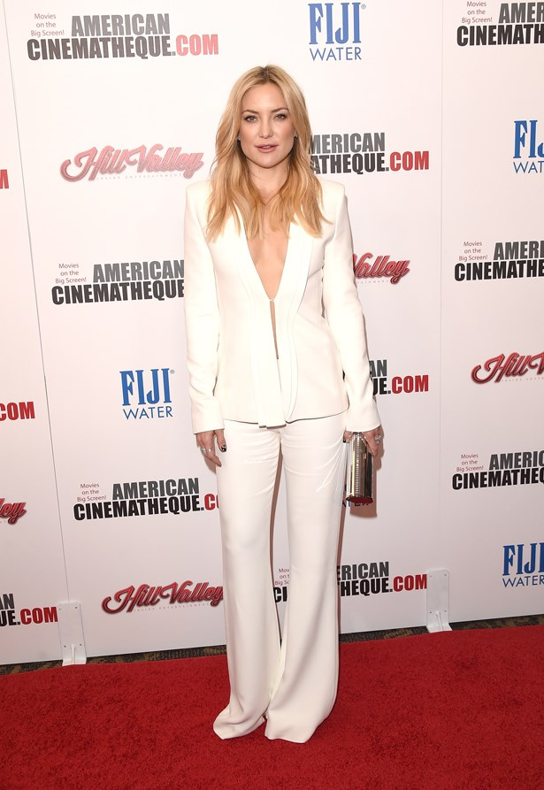 Kate Hudson went back to her rockstar roots with this all-white suit.