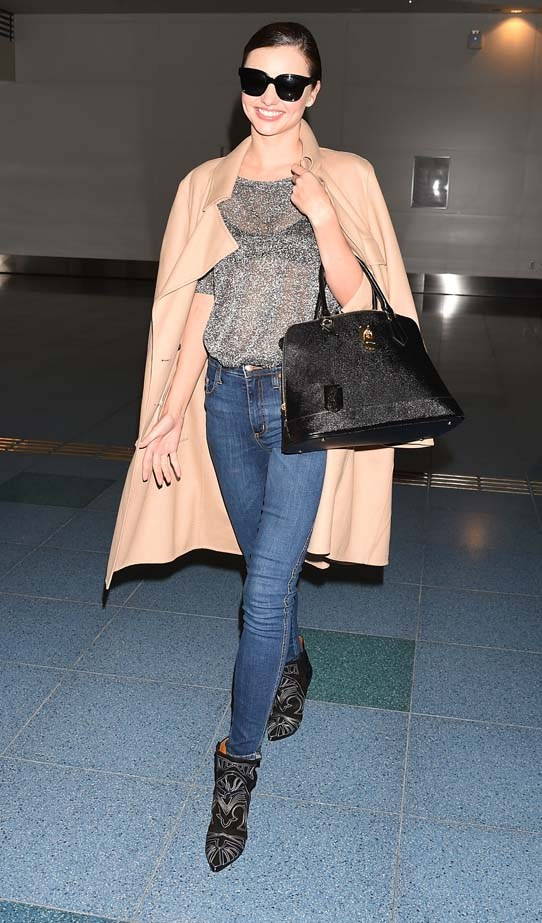 Isabel Marant boots are a go-to options for travelling celebs.