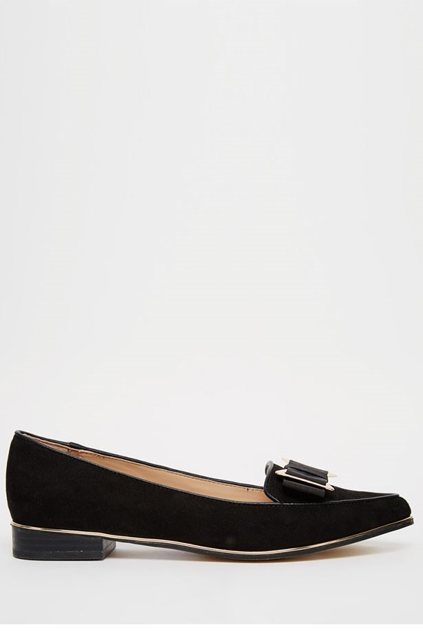 "Ballet Flats, $60, River Island, <a href=""http://www.asos.com/au/river-island/river-island-bow-trim-ballet-flats/prod/pgeproduct.aspx?iid=5736574&clr=Black&SearchQuery=Bow&pgesize=28&pge=0&totalstyles=28&gridsize=3&gridrow=3&gridcolumn=3"">asos.com/au</a><a href=""null""></a>"