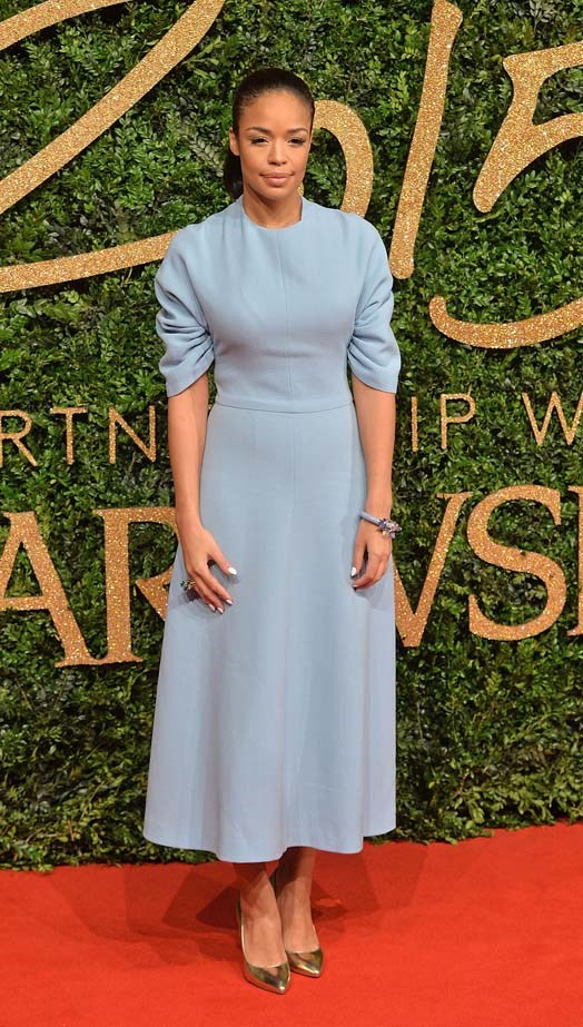 Sarah Jane Crawford attends the British Fashion Awards.