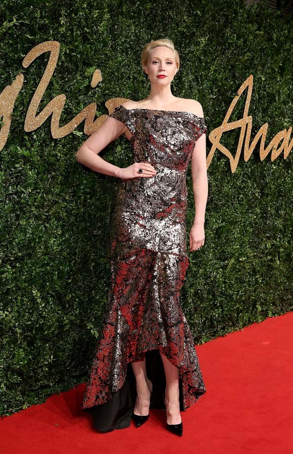 Gwendoline Christie attends the British Fashion Awards.