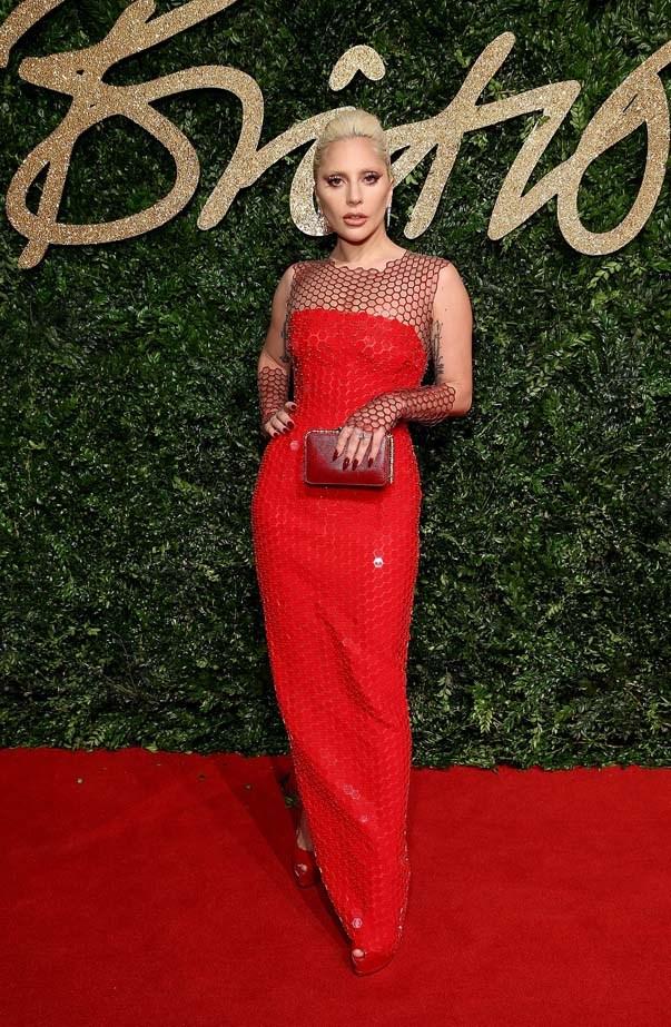 Lady Gaga attends the British Fashion Awards.