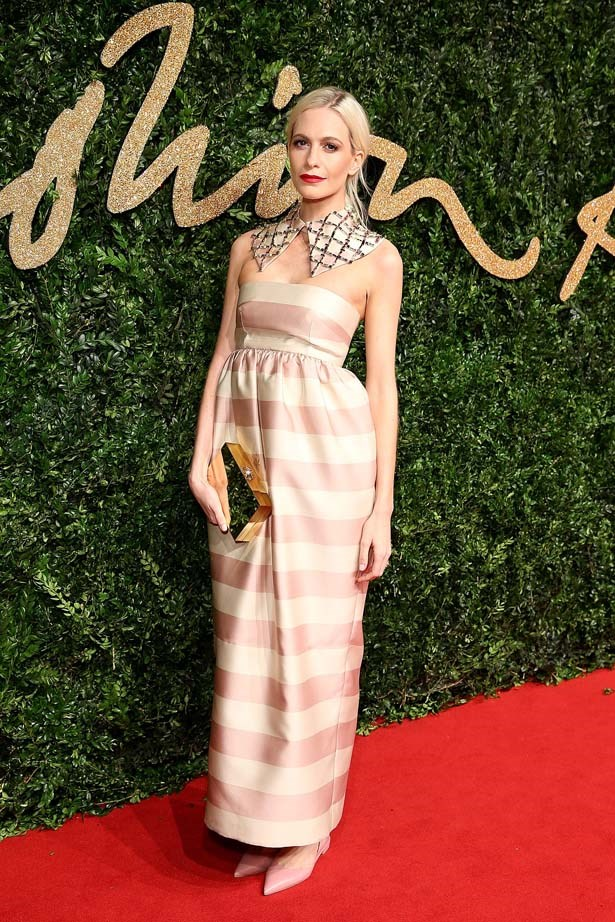 Poppy Delevingne attends the British Fashion Awards.