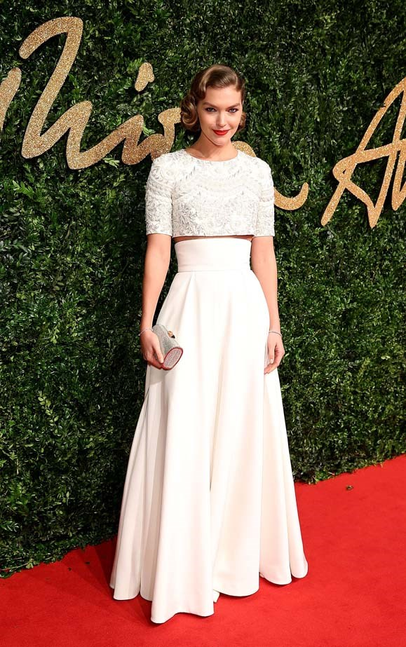 Arizona Muse attends the British Fashion Awards.