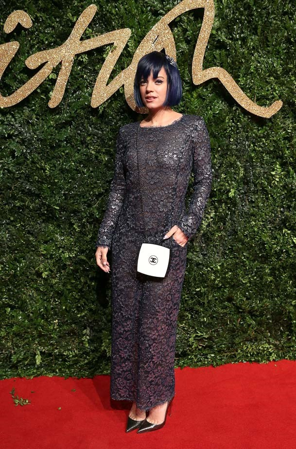 Lily Allen attends the British Fashion Awards.