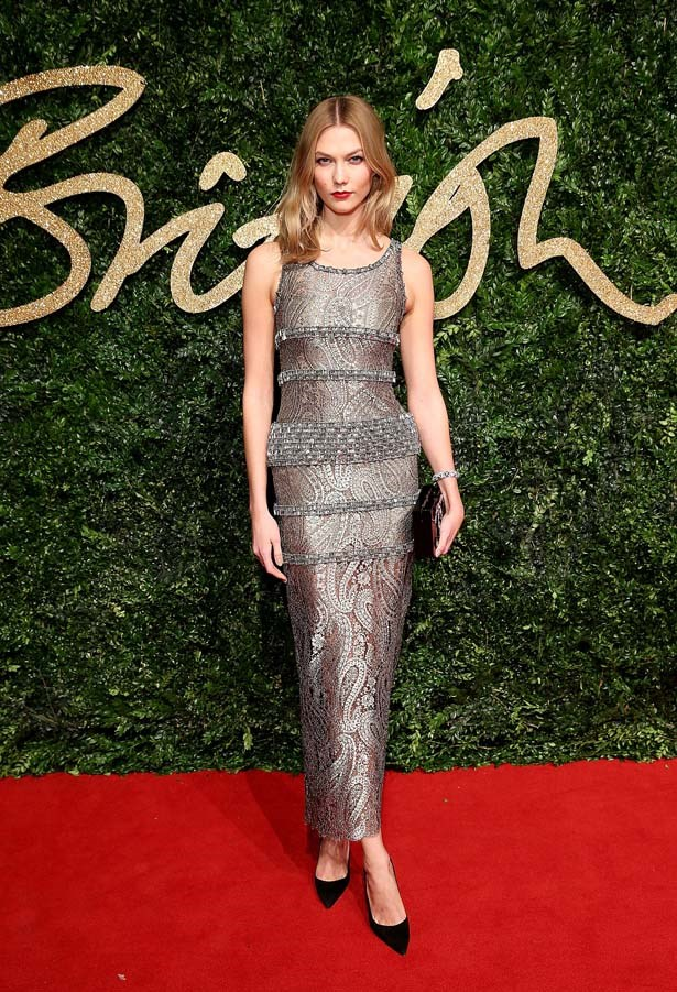 Karlie Kloss attends the British Fashion Awards.