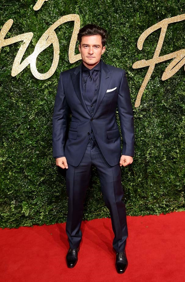 Orlando Bloom attends the British Film Awards.