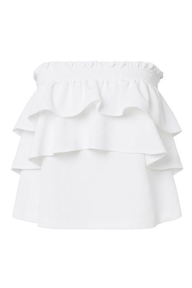 "Top, $79.95, Seed, <a href=""http://www.seedheritage.com/new-arrivals/collection-strapless-frill-top/w1/i13647504_1001285/"">seedheritage.com.au</a>"
