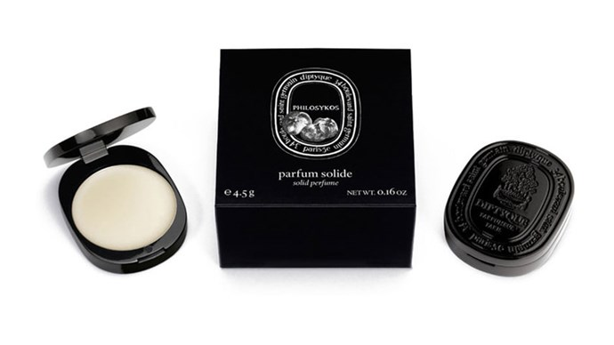 Perfect for subtle scent touch-ups. <strong>Philosykos Solid Perfume, $59, Dyptique, mecca.com.au</strong>