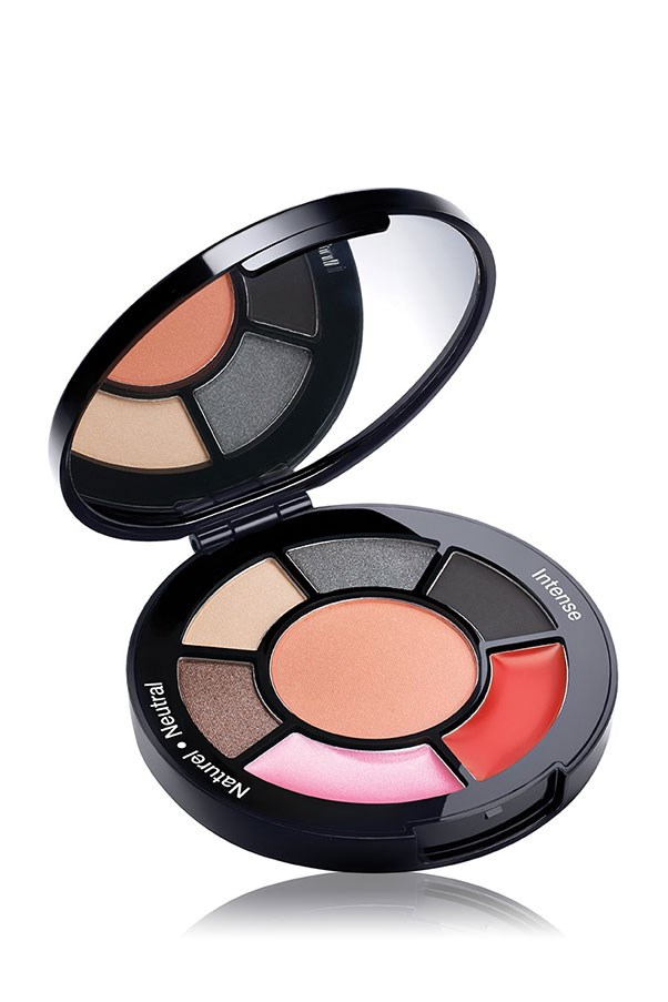 Shadows, cheeks and lips in a petite compact. <strong>Palette To Go in Neutral & Intense, $12, Sephora Collection, sephora.com.au</strong>