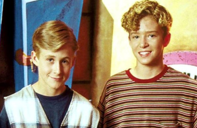 Squeeeeee! Tiny Ryan Gosling and Justin Timberlake on the Mickey Mouse Club. Image via Pinterest