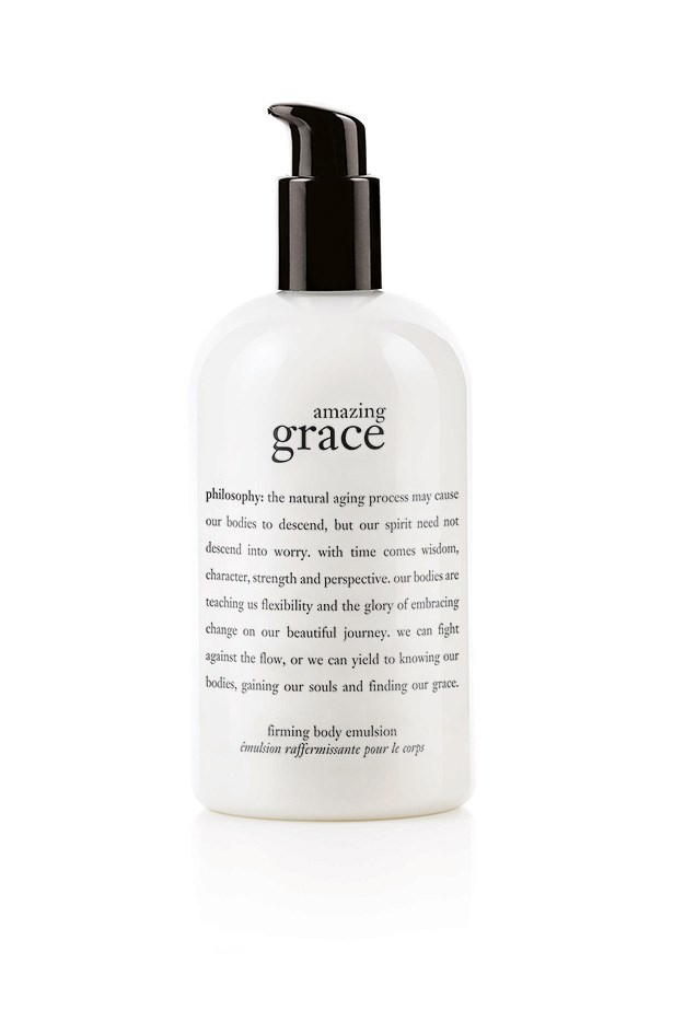 It's moisturising, firming and just so happens to have a lovely delicate scent – so you can skip perfume.  <br><br> <em>Amazing Grace Body Firming Emulsion, $45, Philosophy, 1800 812 663</em>