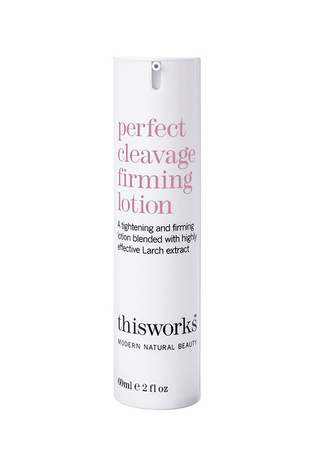 When your Wonderbra isn't cutting it, try this clever firming and smoothing formula which also comes with a bonus, super-flattering shimmer.  <br><br> <em>Perfect Cleavage Firming Lotion, $87, This Works, mecca.com.au</em>