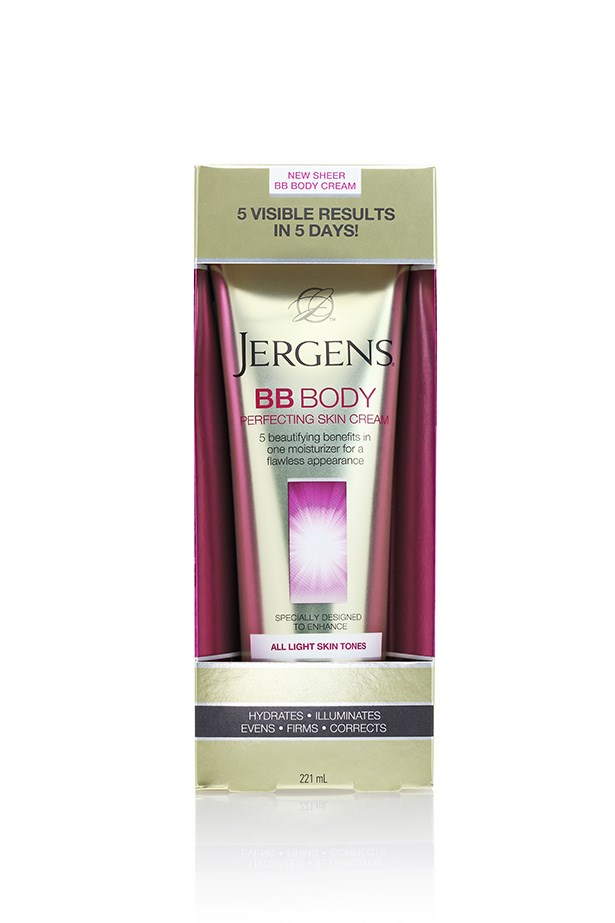 Perfect for evening up the delicate skin around your chest and neck, it's BB and nourishing moisture in one. <br><br> <em>BB Body Perfecting Skin Cream, $14.99, Jergens, 1300 884 411</em>