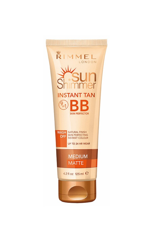 No time for a spray? This wash-off colour comes in two different shades, so you can find the best match for bronzing up your neckline.<rb><br> <em>Sunshimmer Instant Tan + BB Skin Perfector, $13.95, Rimmel, 1800 812 663 </em>