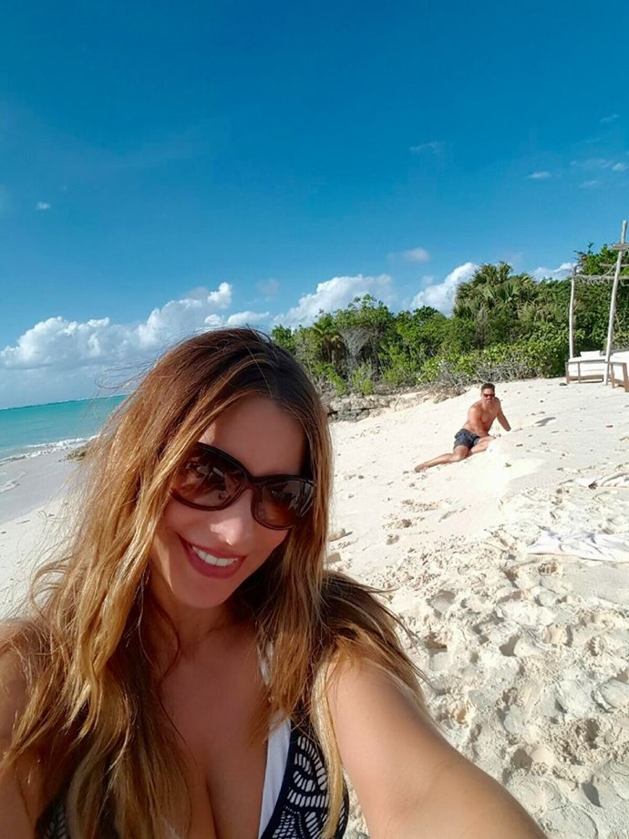More honeymoon selfies with your new husband digging for crabs in the distance - check.