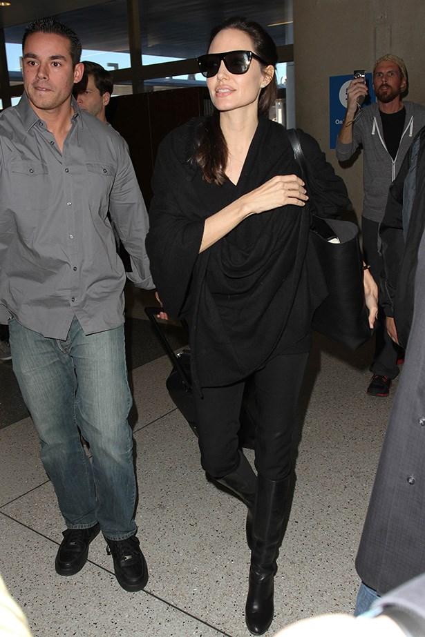 Angelina Jolie keeps a cute on the books. Image: Getty