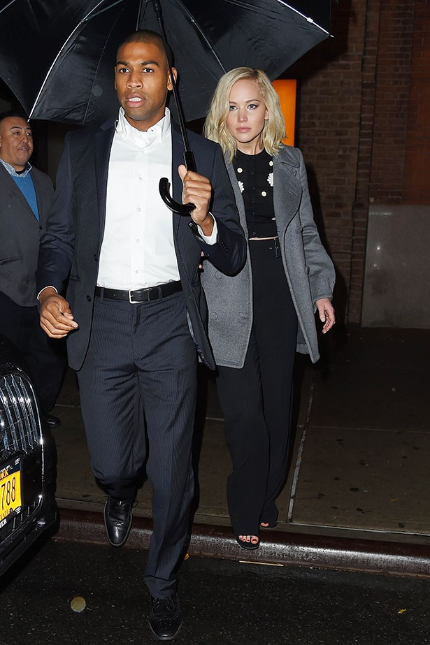 JLaw has had a string of handsome bodyguards in her team. Good for morale, we say!