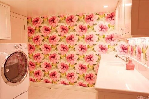 Floral wallpaper! So Conrad. Image: Redfin