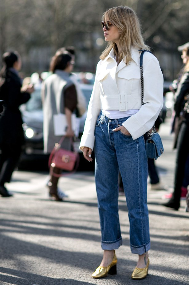 "<p>13. Mom jeans</p> <p>While oversized denim and clothing have been around for a while, 2015 truly marked the year of the ""Mom"" jean. Think Levis 501 paired with Celine slippers, just like this clever lady here.</p>"