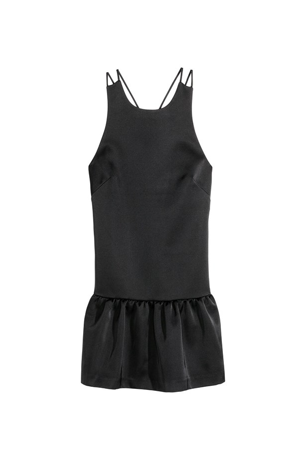"Satin dress, $49.95, <a href=""http://www.hm.com/us/product/38139?article=38139-A"">H&M </a>"