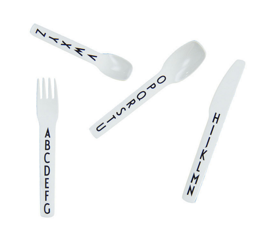 """Gift idea: AJ kids cutlery set 4pc A-Z Who's it for: your nephew/niece. <br><br>You want to cement your rightful place as favourite aunt, but you also know that your sibling has the toy situation tied up. <br>These cute cutlery sets should be a hit. <a href=""""http://top3.com.au/categories/baby-and-child/cutlery-sets/design-letters-kids-cutlery/dlcutlery"""">Top3</a> $55"""
