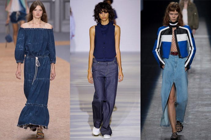 <strong>Denim come back</strong> <p> <p> Okay so denim never really went away, but next year will see it reinvent to be fine, delicate and simple - at least, according to Chloe, Diesel and Alexander Wang.