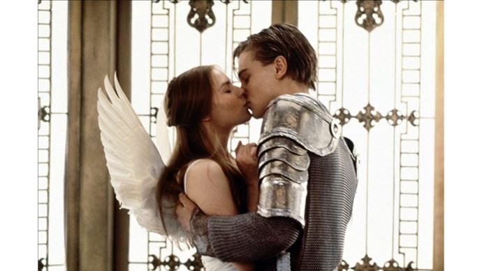 <strong>1. ROMEO AND JULIET (1996)</strong> <br><br> Baz Luhrmann's adaptation of the Shakespearean story is 100% stylised, 100% peak attractiveness Leo, 100% devastating.