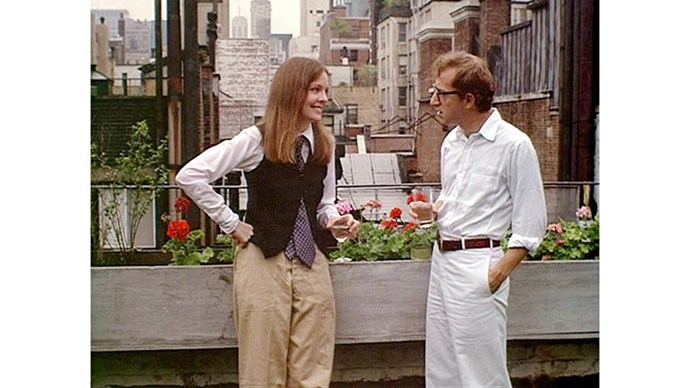 <strong>8. ANNIE HALL (1977)</strong> <br><br> As problematic as Woody Allen is, nobody can deny the romantic pull of Annie Hall - regarded by many as his best film (it took home four Oscars). Bonus points to Diane Keaton's wardrobe - she insisted on styling herself.