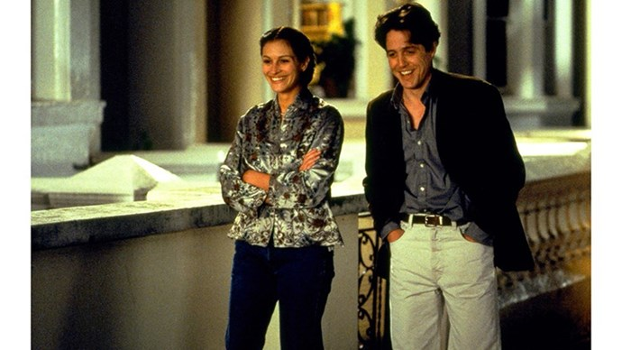 <strong>20. NOTTING HILL (1999)</strong> <br><br> A Hollywood superstar (Julia Roberts) falls in love with a British bookshop owner (Hugh Grant), against the backdrop of London's chic Portobello Road in the '90s. There's really no surprise that this one was a communal favourite in the BAZAAR office.