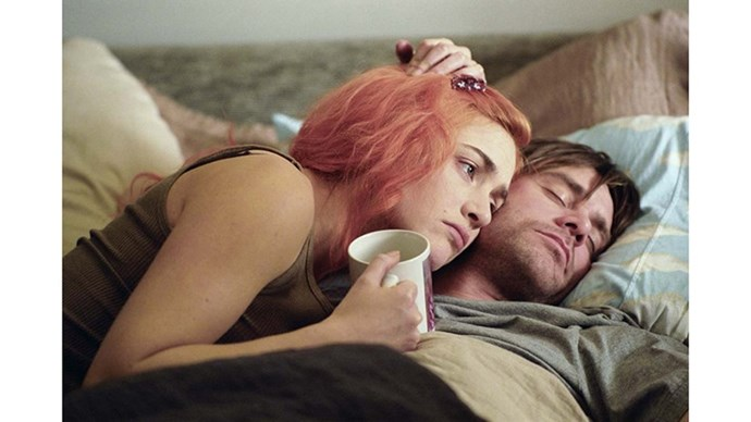 <strong>26. ETERNAL SUNSHINE OF THE SPOTLESS MIND (2004)</strong> <br><br> Jim Carrey gives an uncharacteristically dramatic performance against Kate Winslet in this off-kilter romantic comedy by French director Michel Gondry.