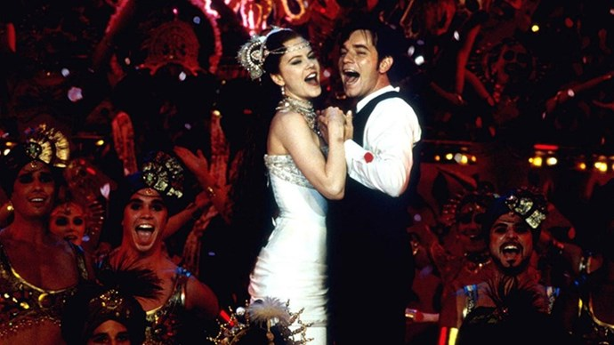 <strong>27. MOULIN ROGUE! (2001)</strong> <br><br> Baz Luhrmann called on Ewan McGregor and Nicole Kidman to star in his bohemian-era Paris-set musical, about a prostitute who falls in love with a writer. So. Sad.