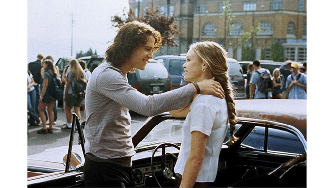 <strong>29. 10 THINGS I HATE ABOUT YOU (1999)</strong> <br><br> One of the few high-school dramas to stand the test of time, 10 Things I Hate About You is actually a modernisation of Shakespeare that we love because a) Julie Stiles plays a strong, independent woman with no interest in dating and b) because Heath Ledger.