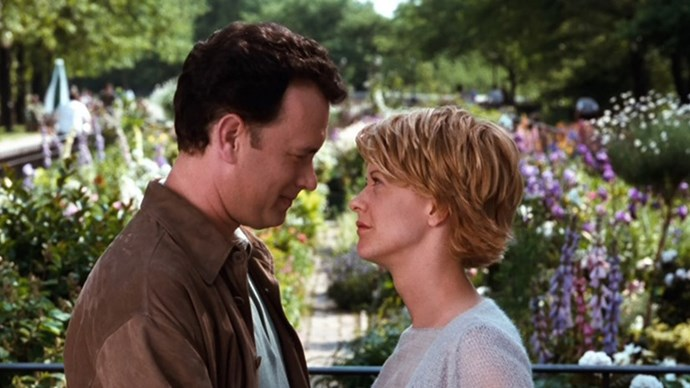 <strong>30. YOU'VE GOT MAIL (1998)</strong> <br><br> Meg Ryan and Tom Hanks reunite five years after Sleepless In Seattle for a tech-themed rom com in which two bookshop owners (why is it always bookshops?) fall in love online.