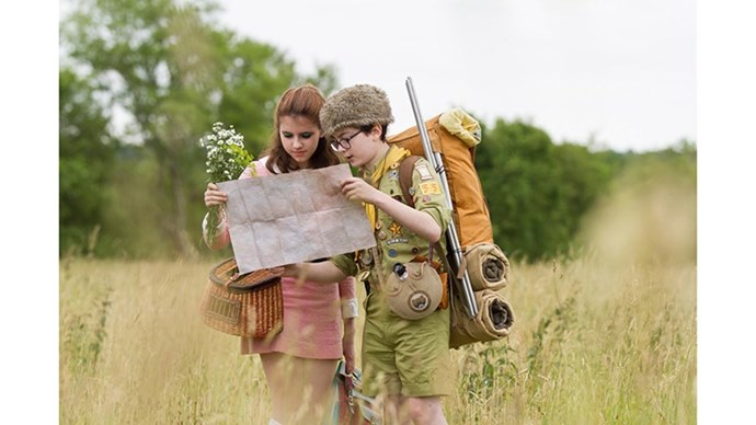 <strong>36. MOONRISE KINGDOM (2012)</strong> <br><br> We're not privy to a romance featuring two pre-teens but Wes Anderson, yet again, pulls it off. Moonrise Kingdom is a visual feast with amazing performances by then 14-year-old Kara Hayward and Jared Gilman.